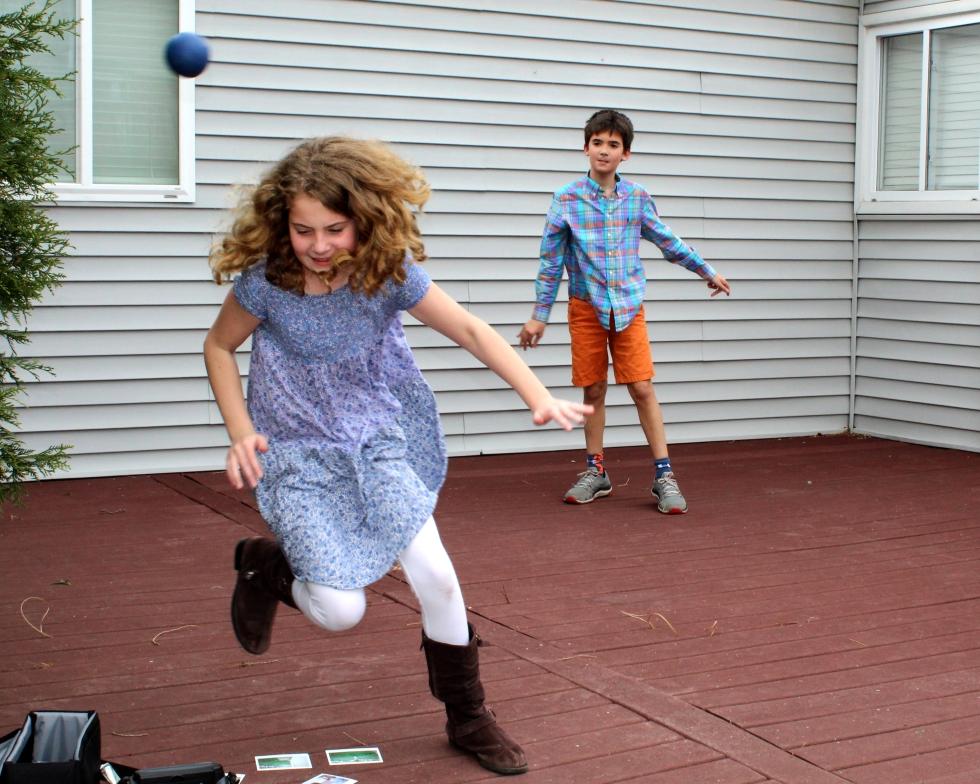 Maddie and Max running